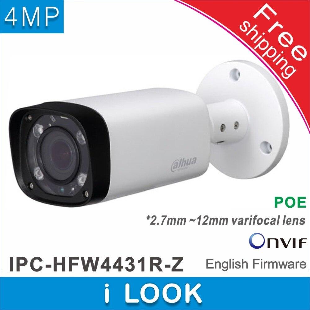 imágenes para Envío libre Dahua IPC-HFW4431R-Z reemplazar IPC-HFW4300R-Z 2.7mm ~ 12mm lente de cámara de $ NUMBER MP ip IR cámara de red POE cctv cámara