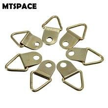 Mtspace 50 шт./компл. Универсальный сильный золотые кольца d-формы Декор Подвеска для картинных рам на крючках Треугольники винты помощник