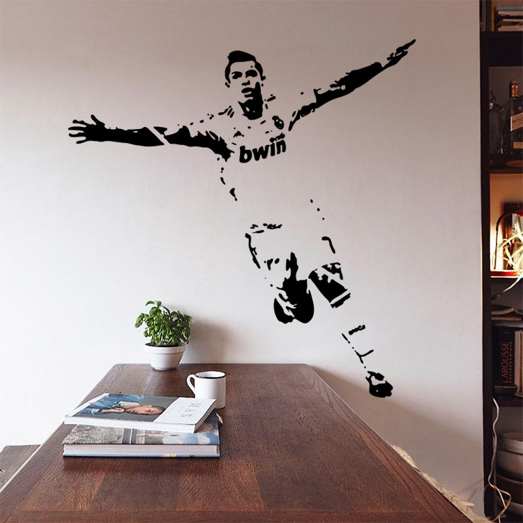 Aliexpress Buy 2017 Soccer Wall Sticker Football Player Decal
