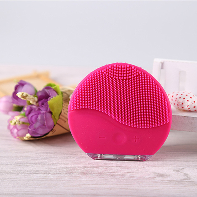 Electric Silicone Face Cleanser Rechargeable Waterproof Facial Makeup Deep Pores Cleansing Brush Exfoliating face washing