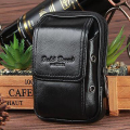 New Genuine Real Leather Fanny Belt Pack Men Hip Bum Travel Mobile Phone Case Cigarette Coin Purse Small Bags Cowhide Waist Bag