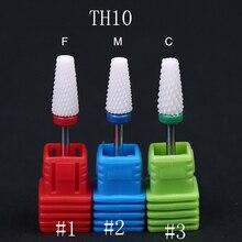 1Pcs Mill Ceramic Nail Drill Bits 3 Colors F/M/C Cuticle Cutter Manicure Machine Rotary Burr Pedicure Tools 3 Grits f rzewski winnsboro cotton mill blues
