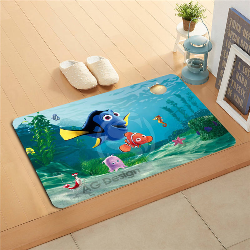 F627m17 Free Shipping Custom finding nemo Doormat Art Design Pattern Printed Floor Hall Bedroom Cool Pad Fashion Rug #11
