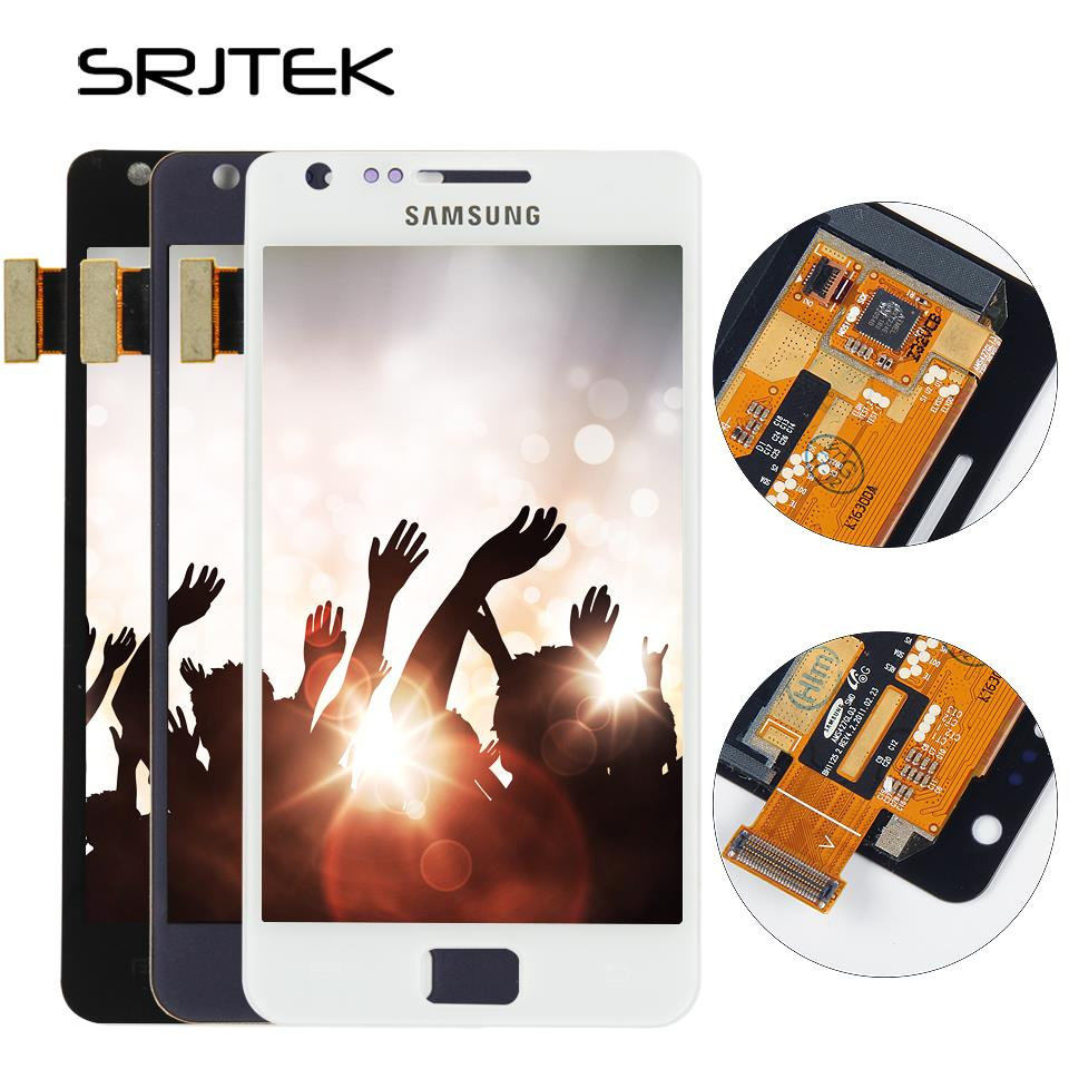 Srjtek For Samsung Galaxy S2 Plus I9105 LCD Display Touch Digitizer Sensor Glass Assembly With Frame 4.3'' 800*480 For S2 Plus