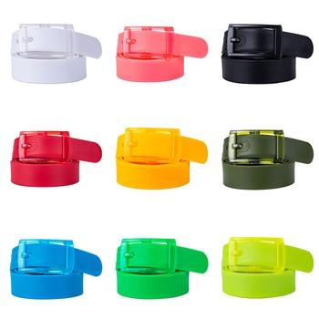 b9bc6fe575 ¿Barry  wang el más nuevo plástico Multi-color cinturones para mujer  cinturón amarillo Pin de Metal hebilla de cinturón para hombres boda fiesta  Jeans ...