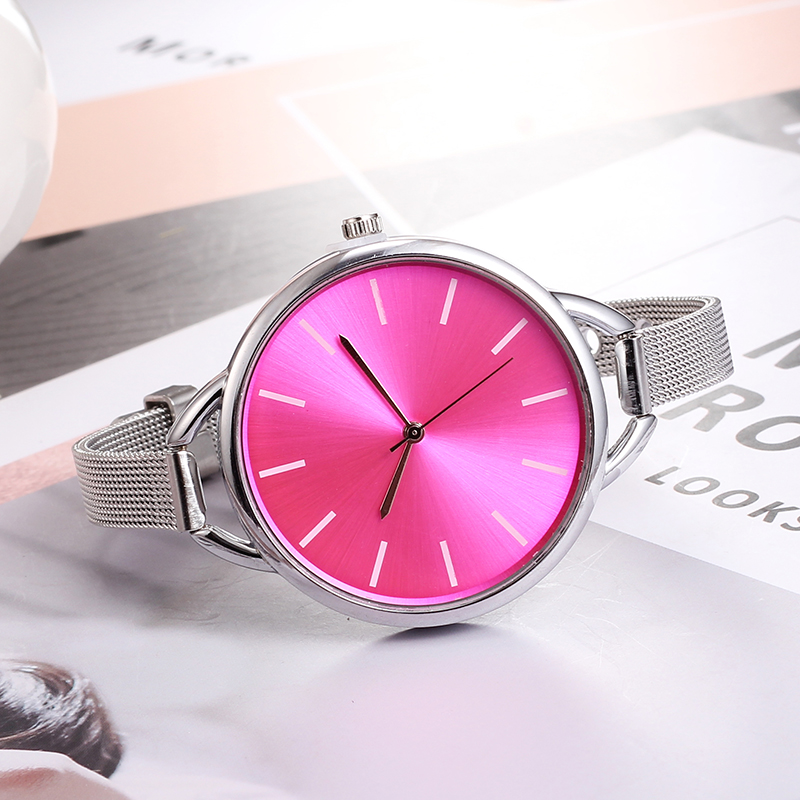 Top Luxury European Style Lady Watch Elegant Big Dial Quartz Super Slim Stainless Steel Bracelet Watch Women's Wrist Reloj Mujer HTB1pa BepTM8KJjSZFlq6yO8FXaZ