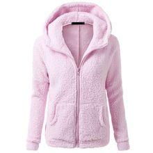 Womens Winter Thicken Fleece Warm Coat Hooded Parka Overcoat Jacket Outwear