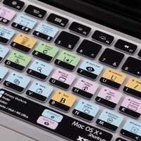 US European Version Mac OS X Shortcut Design Functional Silicone Keyboard Cover For Macbook Air 13
