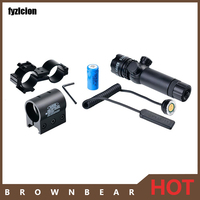 Tactical Hunting Shooting 5mw Red Laser Sight Rifle Scope Designator 20mm Mount Tail Switch