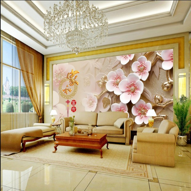 Hot Custom 3d Large Video Wall Mural Paper Living Room Non Woven Fabric