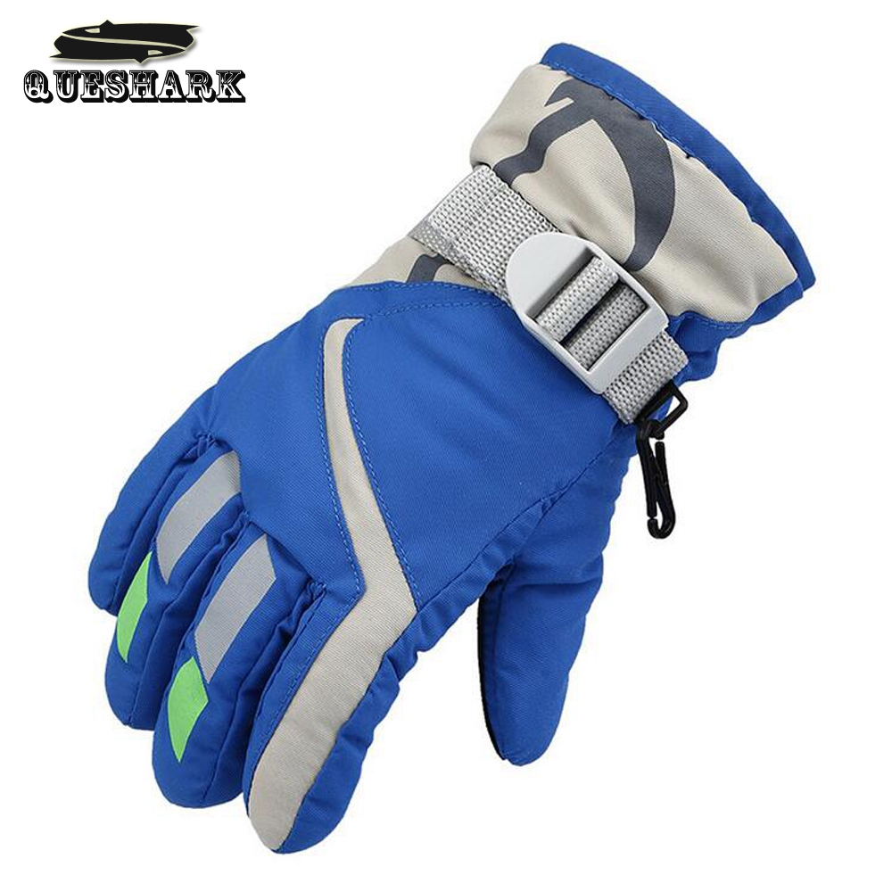Children Winter Warm Ski Gloves Sports Waterproof Windproof Snow Mittens Adjustable Snowboard Skiing Gloves