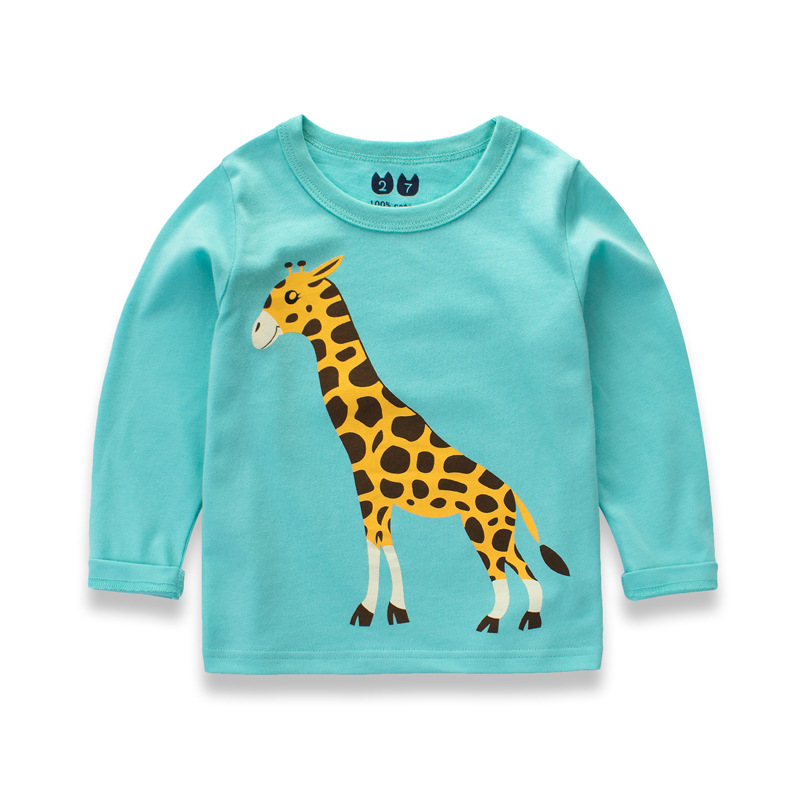 b954e5ae5dd7 Animal Cartoon Children Clothes Boys T Shirt Long Sleeve Baby Tops Blouses  Autumn Animals Printing Dinosaurs Winter Clothing-in T-Shirts from Mother    Kids ...