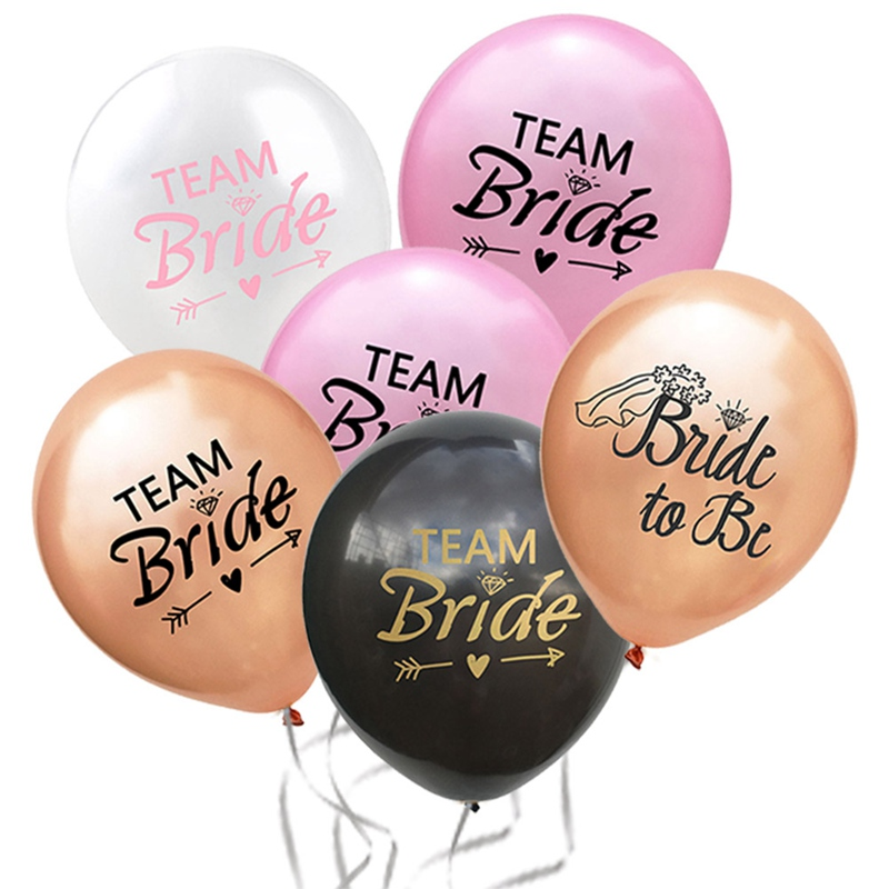 5pcs Latex Wedding//Party//Balloons Team Bride Balloons Wedding Party Supplies