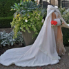 Bridal Winter Wedding Cloak Cape Faux Fur Long Train Bridal Wraps Hooded Winter Jacket Bolero Wedding