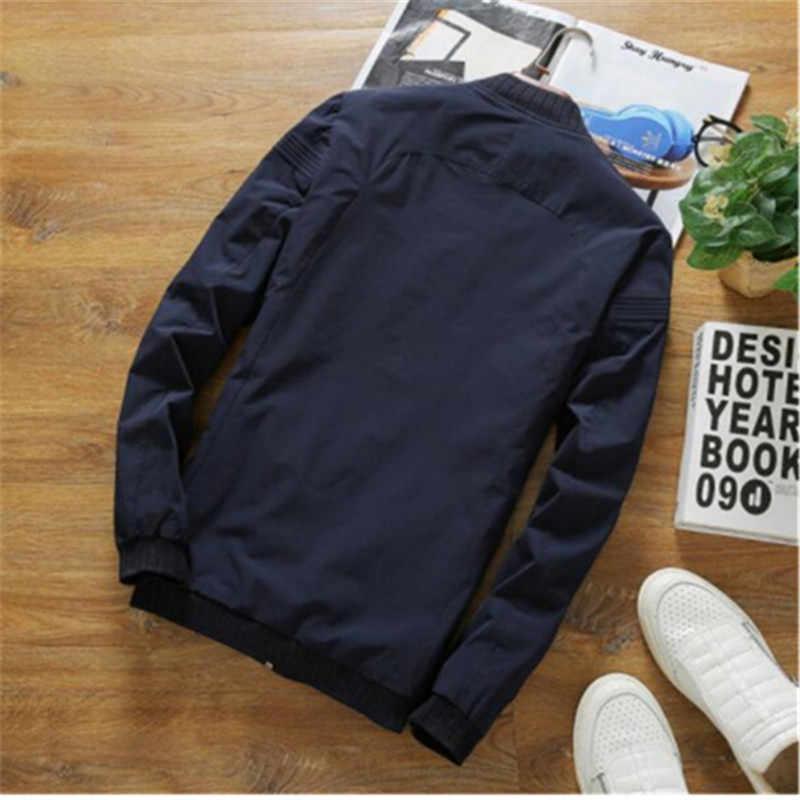 2019 Новая высококачественная Мужская куртка модная тонкая Подростковая черная серая синяя мужская куртка плюс размер 5XL горячая Распродажа