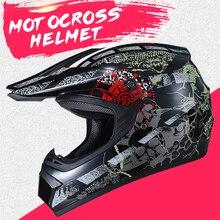 New Motocross Casco Del Motociclo Del Casco Moto Casco Degli Uomini Completa Viso Casco di Motocross Moto Da Corsa Dirt Bike Downhill Casco