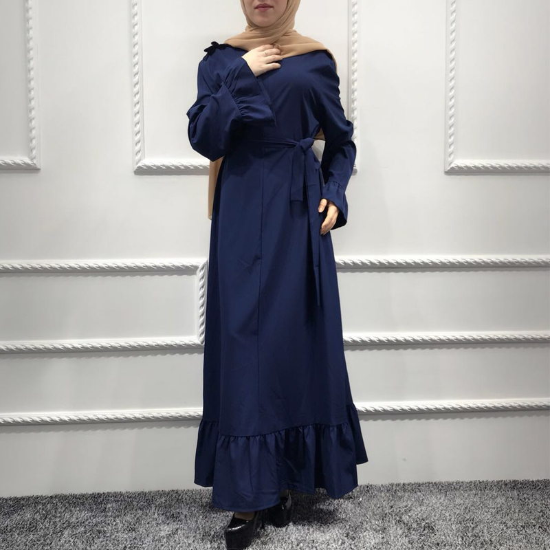 Plus Size Abaya African Kimonos Muslim Women Ruffles Maxi Hijabs Dress Dubai Turkish Islamic Arab Prayer Breast Feeding Clothing