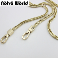 High Quality Serried Chain For Replacement Purse Strap Bag Accessories Bag Hardware Light Gold 7mm Width