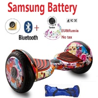 Hoverboard 10 Inch Electric Skateboard E Scooter Bluetooth Speaker Samsung Battery Oxboard Hoverboard Smart Self Balancing