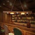 2018 Новый Лофт RH Ретро подвесной светильник винтажный креативный деревянный подвесной светильник для столовой Кофейня Бар Свет Бесплатная ...