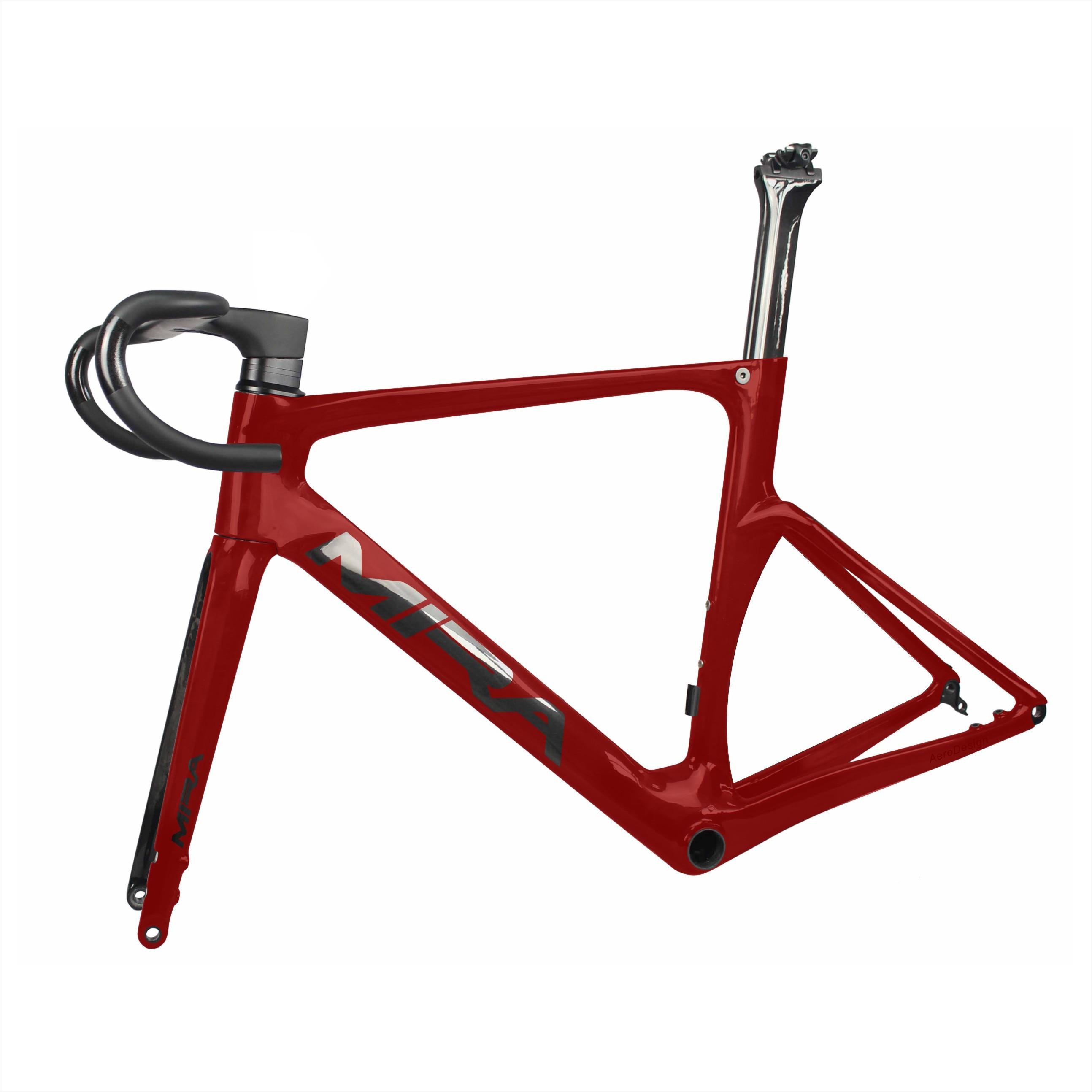 High Quality Carbon Disc Road Bike Frame,T700 Full Carbon Bicycle Frame,AERO  Flat Mount Disc Road Bike Frame China