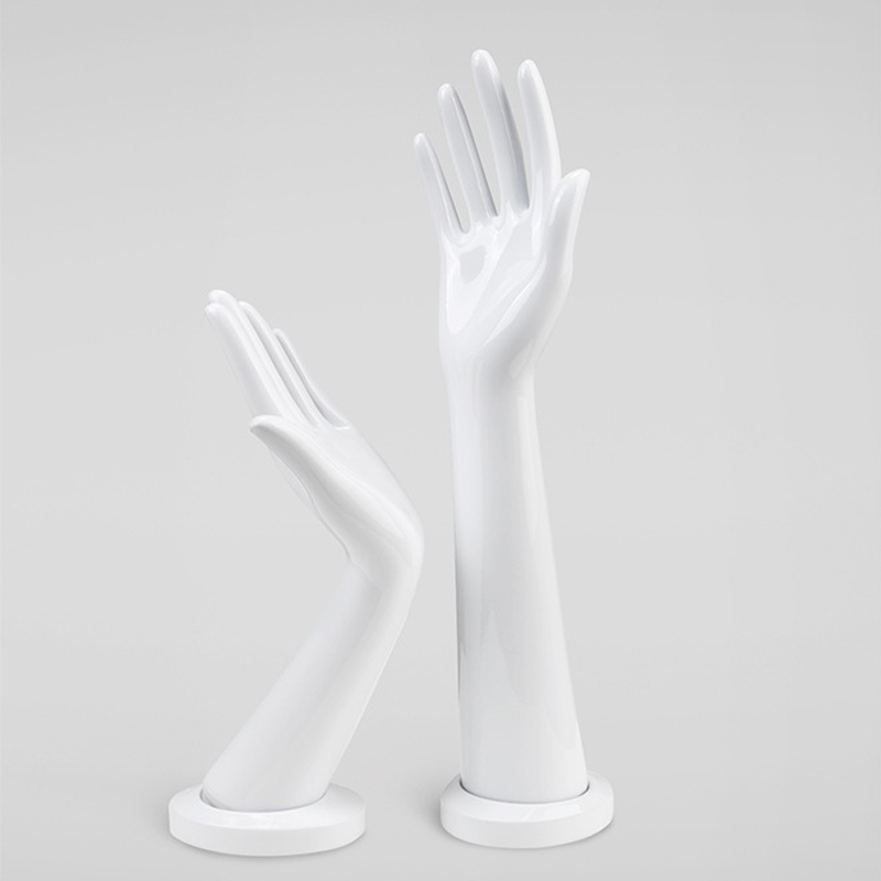 A Pair White High Quality Female Hands Mannequin Model Watch Ring Bracelet Gloves Mannequin Hand Stand Display (3)