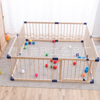 Indoor Solid Wood Safety Big Playfence Play Yard Playground for Children, Family Amusement Park, Playground for Babies