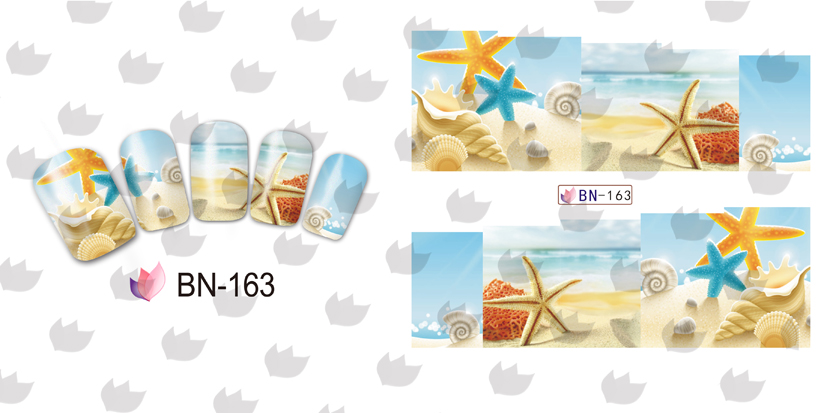 On sale 1 lot 50sheets 12 in one sheet New Style Nail Art Water Sticker Small beach products in 2016 for BN157 168 in Stickers Decals from Beauty Health