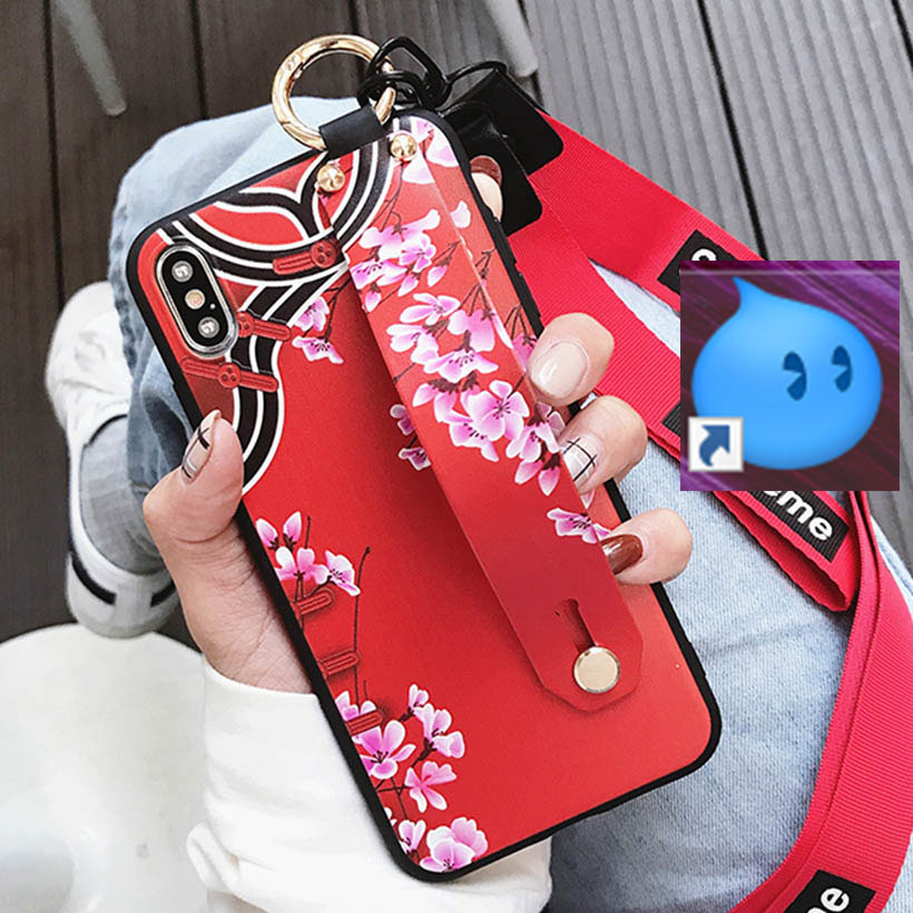 HTB1paatelCw3KVjSZR0q6zcUpXaZ Wrist Strap Phone Case for iPhone XS Max X XR Cover iPhone 7 8 Plus 6 6S 11 Pro Max Case Luxury Neck Lanyard iphone 6s case