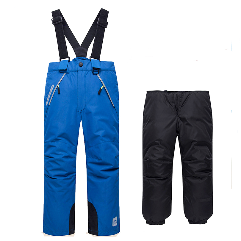 Chidren Winter Overalls Boy & Girls Down Pants 2019 New Overalls Kids Ski Pants Detachable Trousers Thick Windproof Warm Fit4-8T 2017 new arrive winter children s ski pants boy and girl overalls down pants girls thick warm disassemble pant pants for 6 9t