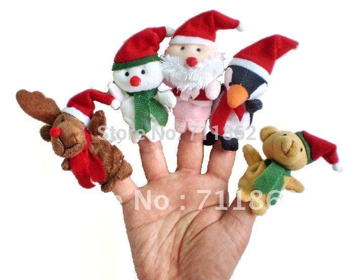 320pcs/lot Christmas Animal Finger Puppet, Finger toy, finger doll, baby dolls 20% off