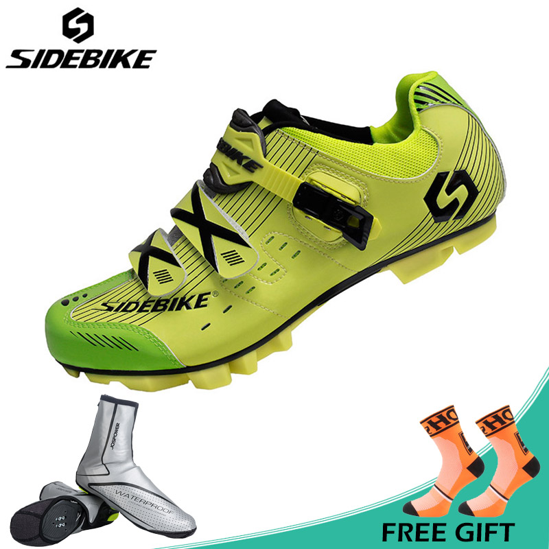 SIDEBIKE New Men Riding Bicycle Shoes Breathable MTB Cycling Shoes PU Uppers Mountain Bike Shoes Athletic Sneakers Sapatos jad spo 108 bicycle breathable pu shoes silver size 42