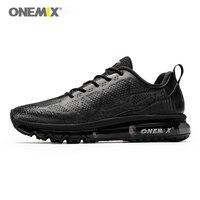 ONEMIX men running shoes men sneakers waterproof leather outdoor running shoe shock absorption light male sneakers size EU 39 47