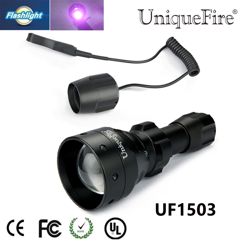 Uniquefire 1503 Zoomable LED Flashlight Torch IR 850nm LED 3 Modes Lampe Torche+Pressure Switch Use With  Night Vision обогреватель aeg wkl 1503 s wkl 1503 s