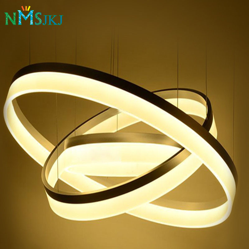 Modern Two Rings LED ChandelierArcylic LED ring Suspension Light Fixture  Circle LED Ring lighting New Design MD5000 suspension light fixtures designer light fixtures light fixtures - title=