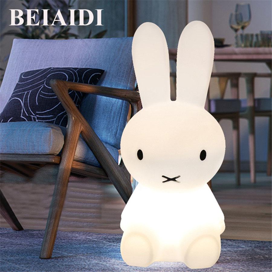 BEIAIDI Big Rabbit LED Night light 50CM Dimmable Children Nursing Night Light Baby Kids Bedroom Bedside Cute Desk Table Lamps rabbit lamp led table light for baby children kids gift animal cartoon decorative lighting bedside desk bedroom living room
