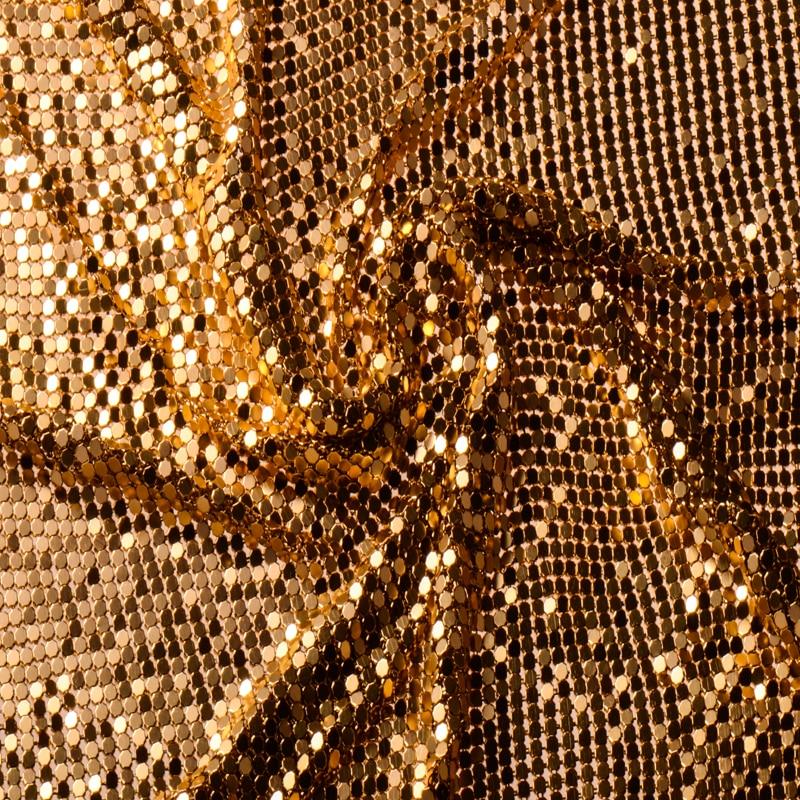Buy Brand 150cm X 45cm Golden Metal Mesh Fabric Metallic Cloth Metal Sequin
