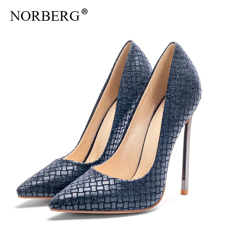 NORBERG 2019 New pattern fashion ladies sex red Single shoes high heels banquet shoes wedding stiletto Work shoes in Women 39 s Pumps from Shoes