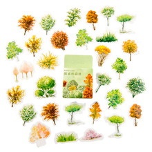 46pcs/pack The Forest In Norway Hand Painted Stionery Decorative Sticker Product Album Account Decoration Stickers Scrapbooking