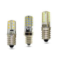 E12 LED Bulb Corn Light 3W 5W 7W Silicone Lamp 3014 SMD AC 220V Chandelier Replace The Halogen Lamps
