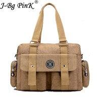 J BG PinK New Women Handbag Nylon Female Multi Functional Waterproof Shoulder Bag Fashion Mummy Maternity