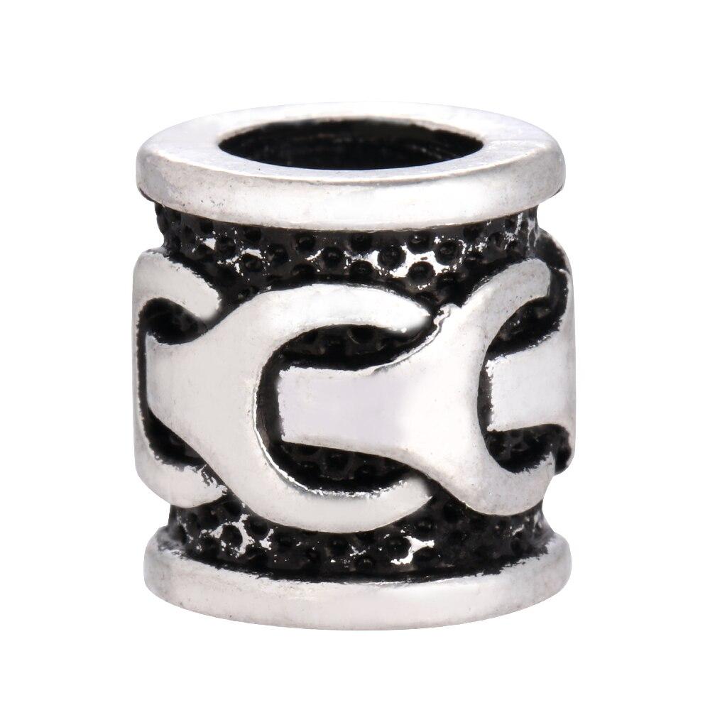 Викинги текстурированная Бусины Талисманы выводы для Цепочки и ожерелья браслет ювелирных изделий для ужаса волосы борода Бусины c-98