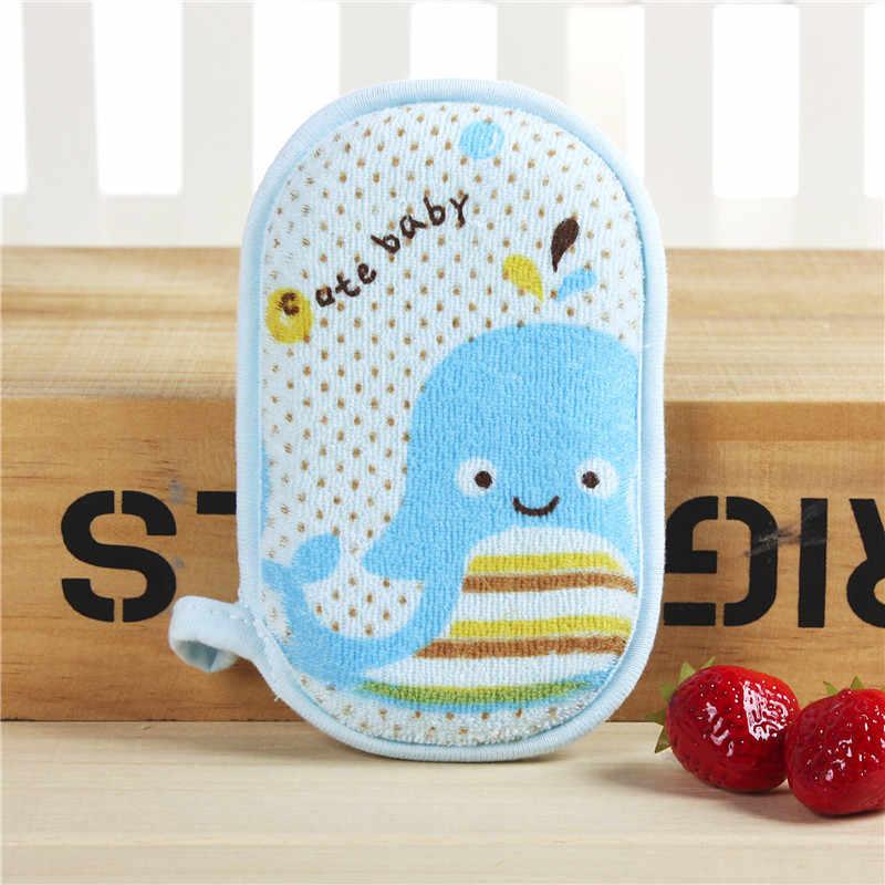 חמוד קריקטורה תינוק אמבטיה מברשת כותנה מקלחת מוצרים נוח רך מגבת אמבט מברשות כותנה שפשוף גוף מגבת אבזרים