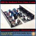 Assembeld 20 Вт Нет обратной связи Полный DC Чистом Классе А Усилитель доска + Алюминий угол (2 канал)