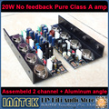 Assembeld 20W No feedback Full-DC Pure Class A Amplifier board + Aluminium angle ( 2 channel )