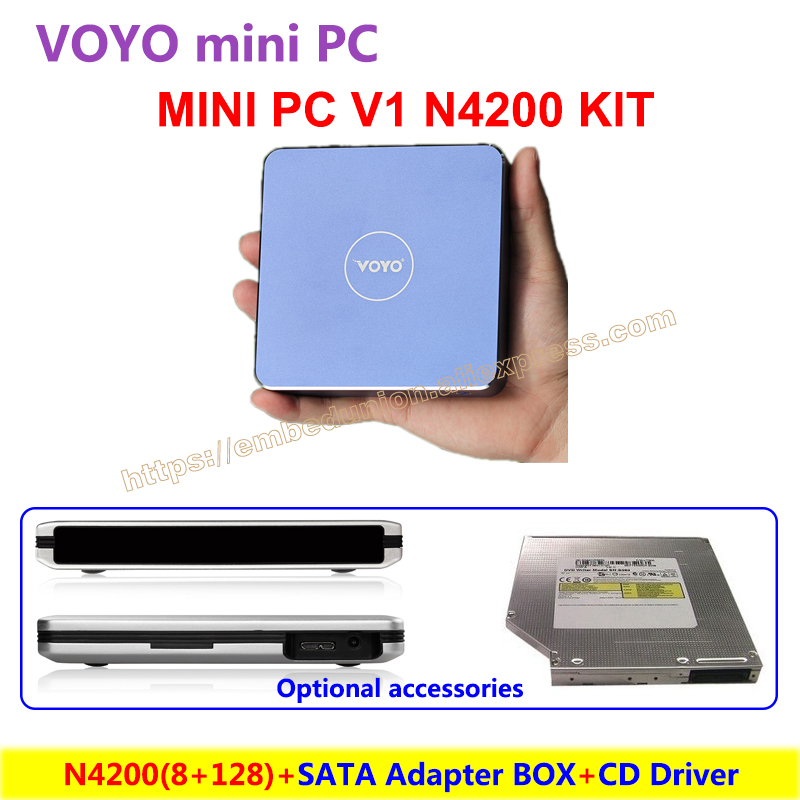 VOYO Mini PC V1 N4200 8GB DDR3L RAM 128GB SSD Windows 10 Pocket PC Intel with