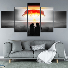 5 Piece Fantasy Artwork Paintings Nuclear Explosion Apocalyptic Pictures Modern Oil Painting Wall Art for Home Decor