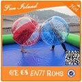 Бесплатная доставка 10 шт. ( 5 Blue + 5Red + 2 вентилятора ) 1.5 м 0.8 мм пвх толщина пузырь футбол костюм, Тела шарик zorb, Пузырь футбол