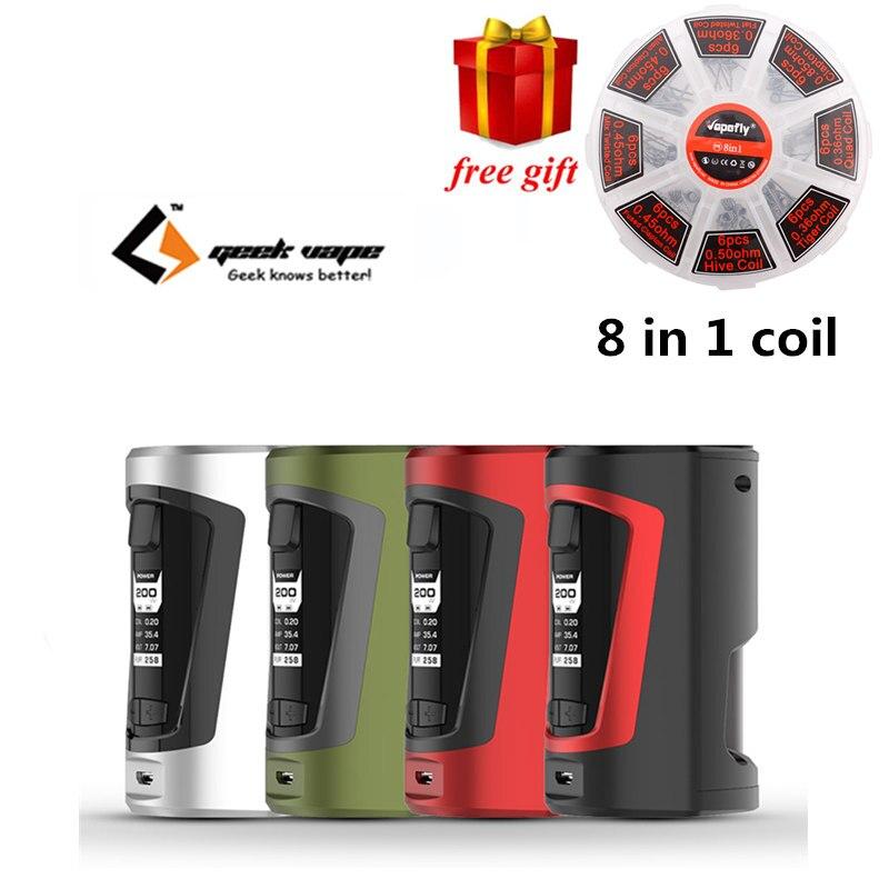 Regalo libero!!! Più nuovo Squonker scatola mod Geekvape GBOX Squonker box mod 200 w Alimentato da dual 18650 batterie con 8 ml Squonk bottiglia