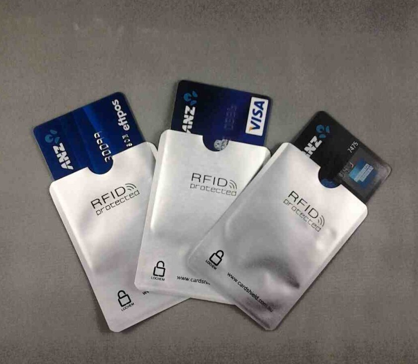 156552f0e315 US $18.24 5% OFF|100pcs/lot blank Anti Theft RFID Credit Card Protector  RFID Blocking Sleeves Aluminum Safety Shield holder free shipping-in  Jewelry ...
